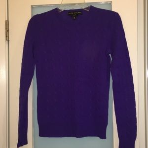 Ralph Lauren Cable Knit Cashmere Sweater